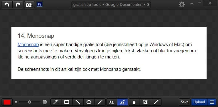 Gratis screenshot applicatie