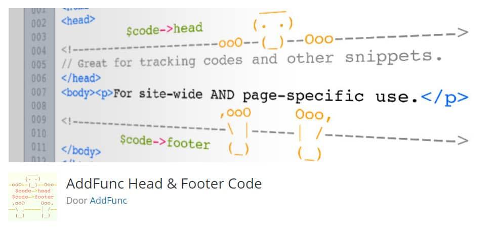 Script toevoegen head en footer WordPress Plugin