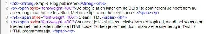 Lelijke html
